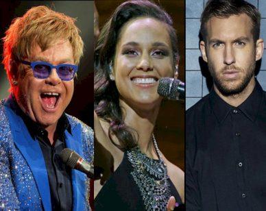 Elton John Alicia Keys Calvin Harris Apple Music Festival 2016