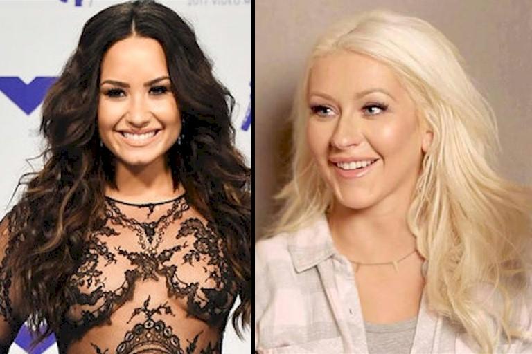 "Christina Aguilera firma parceria com Demi Lovato em ""Fall In Line"""