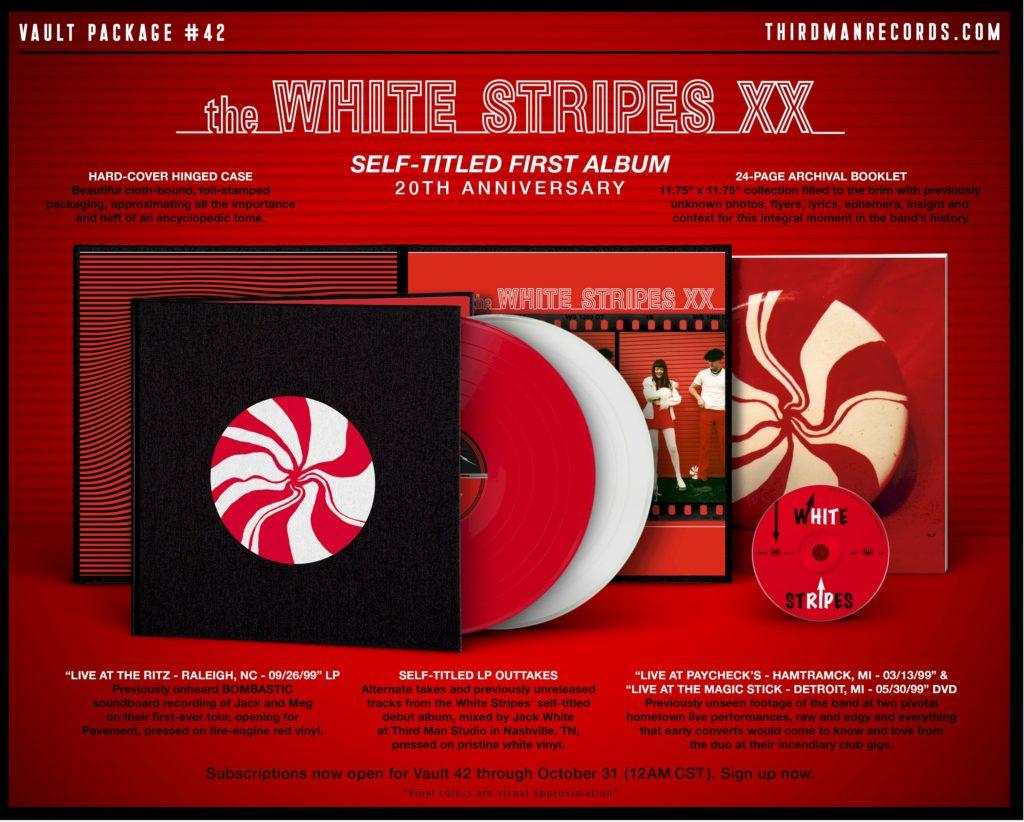 White Stripes anuncia álbum de estreia em box comemorativo de 20 anos
