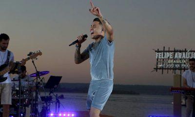 "Felipe Araújo grava o terceiro DVD ""In Brasilia Ao Vivo na Praia"""
