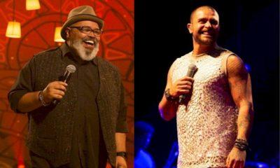 Diogo Nogueira e Jorge Aragão dividem o palco do Credicard Hall em São Paulo