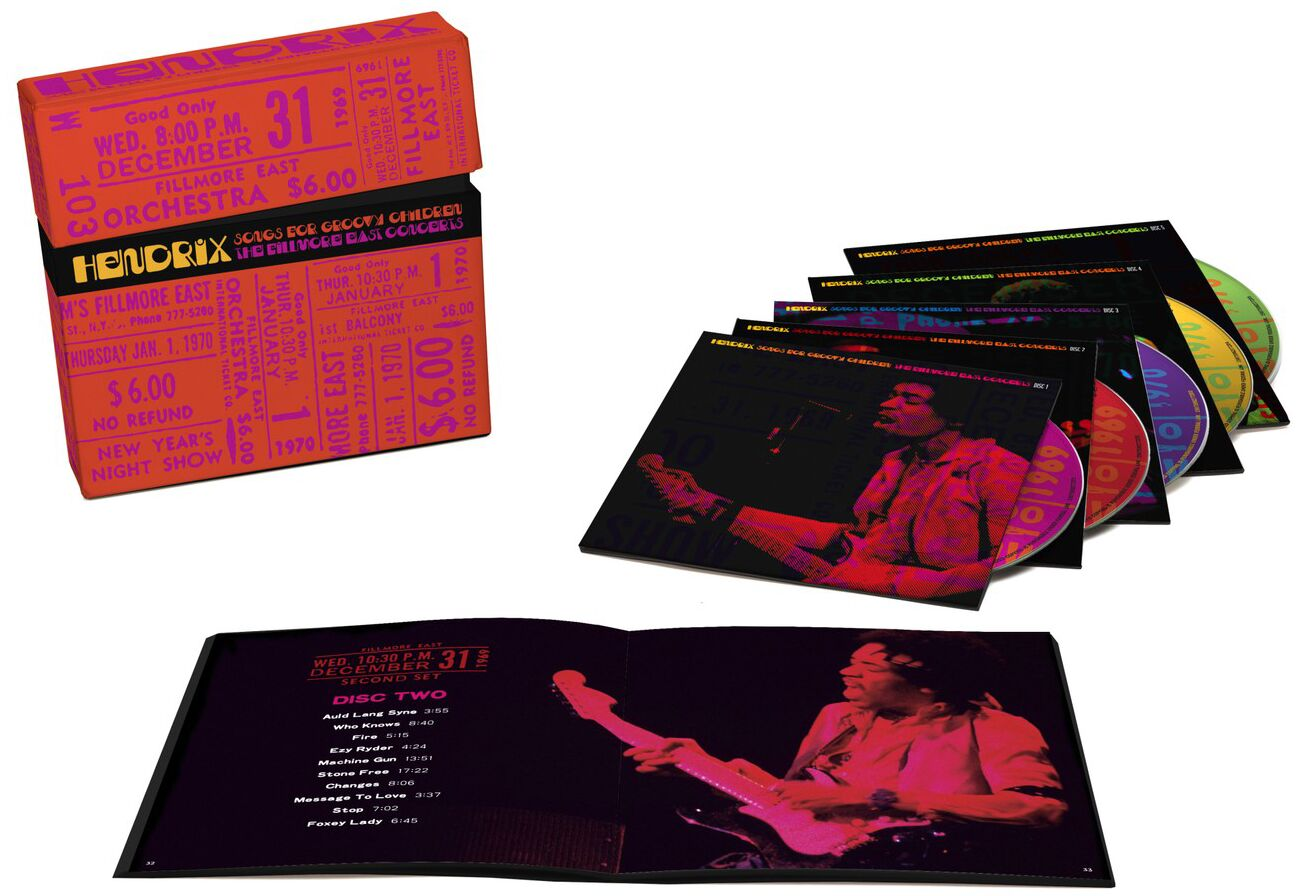 """Jimi Hendrix: fase com a Band of Gypsys, ganha box """"Songs for Groovy Children"""""""