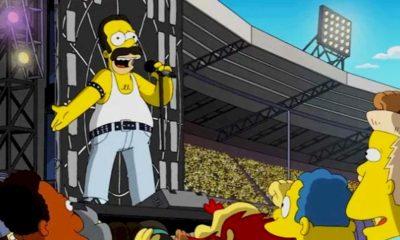 Simpsons recriam apresentação do Queen no Live Aid