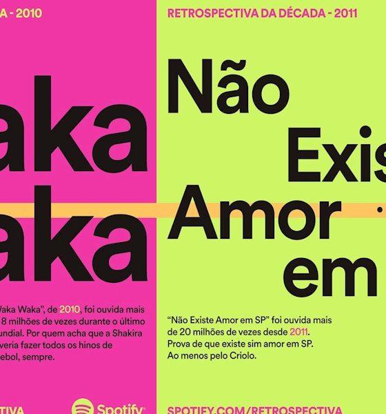 Spotify revisita década da música com posters no Metrô de São Paulo
