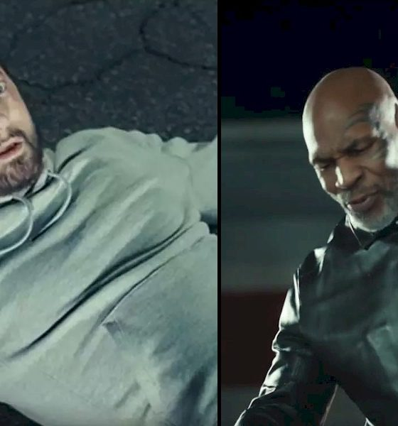 "Mike Tyson dá um soco em Eminem no clipe ""Godzilla"""