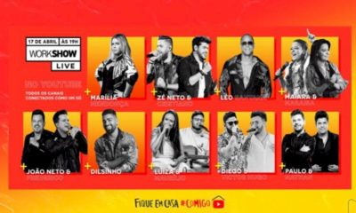 WorkShow promove multi-live com Marília Mendonça, Zé Neto & Cristiano e Léo Santana