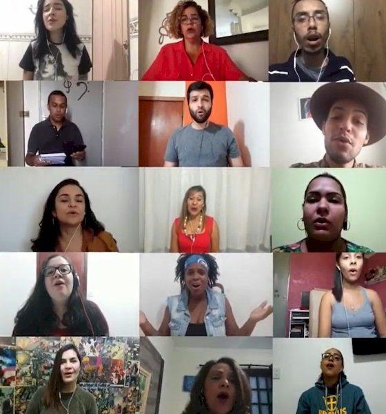 Coral Allianz Partners grava vídeo a distância para enviar mensagem durante a pandemia do coronavírus