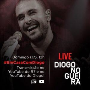 Diogo Nogueira anuncia live no YouTube neste domingo