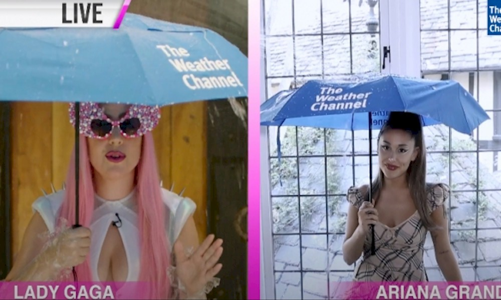 """Lady Gaga e Ariana Grande são as garotas do tempo no video """"The Chromatica Weather Girls"""""""