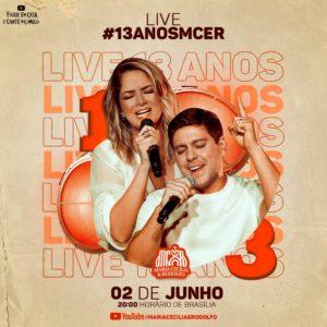 Maria Cecília e Rodolfo comemoram 13 anos de carreira durante live em junho