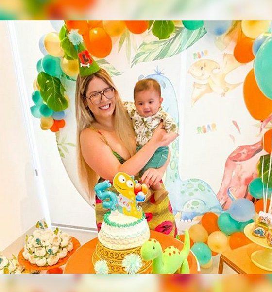 Marília Mendonça festeja 5 meses de seu filho Léo