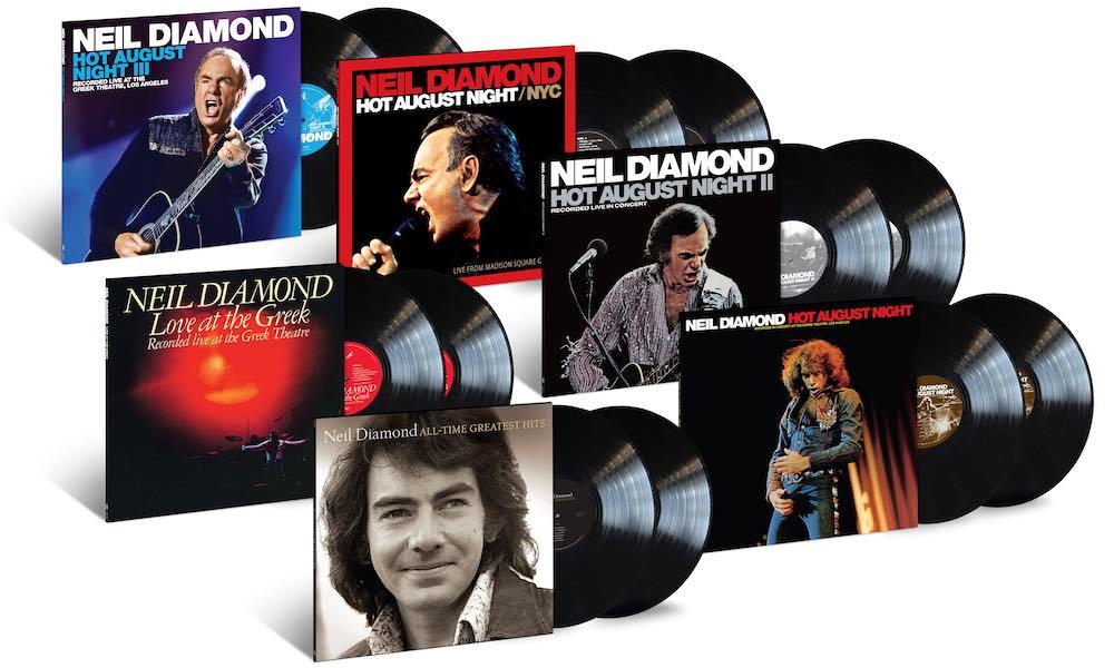 Discografia ao vivo de Neil Diamond será relançada em edições de vinil duplo preto e colorido