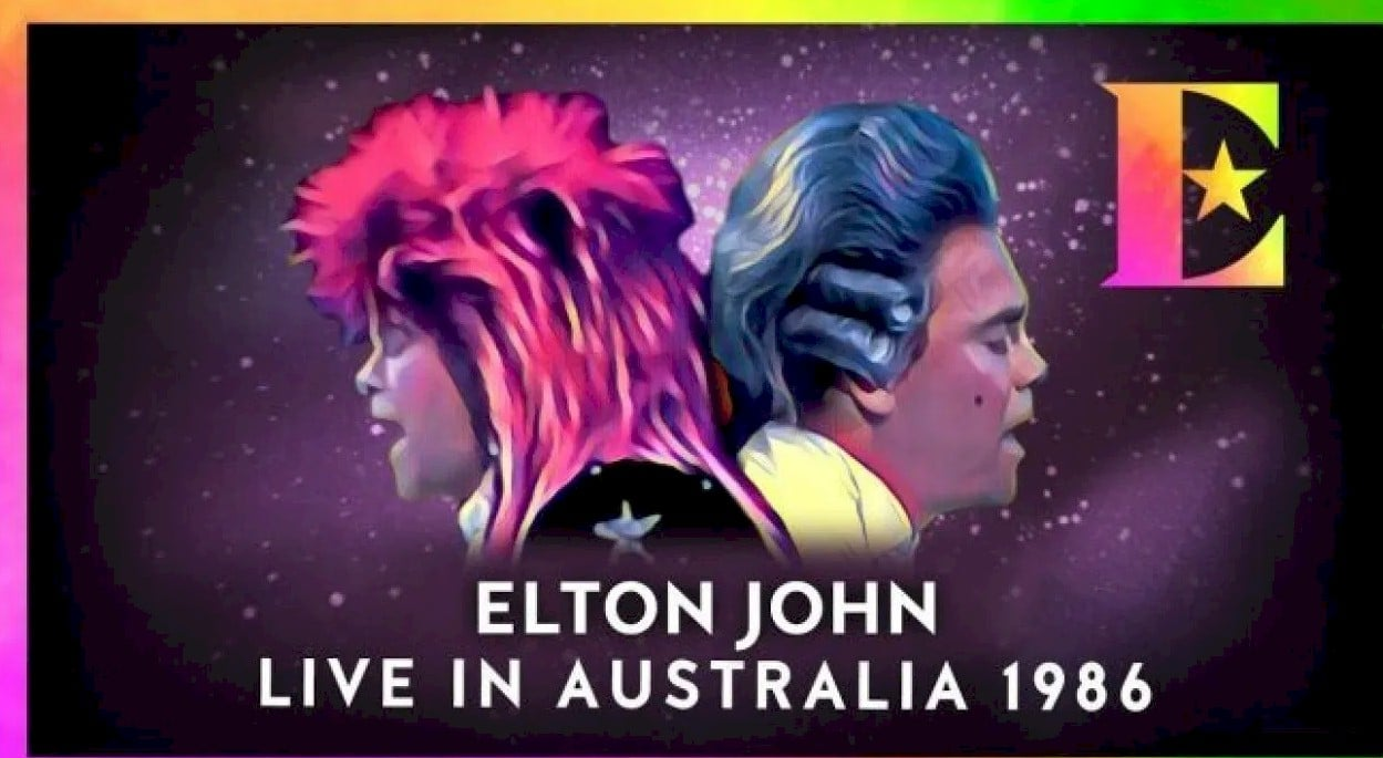 Elton John disponibiliza show histórico na Austrália de 1986