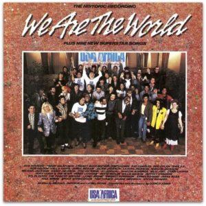 "Relembre Michael Jackson e Lionel Richie recebendo Grammy por ""We Are The World"""