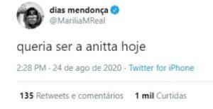 """Marília Mendonça desabafa: """"Queria ser a Anitta hoje"""""""