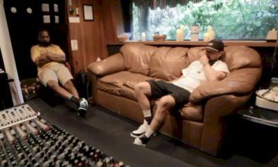 Justin Timberlake com Timbaland em estúdio: novo material em breve