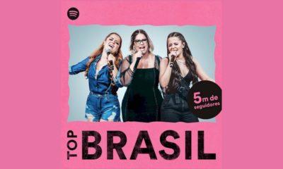 Playlist Top Brasil do Spotify atinge 5 milhões de seguidores e ganha nova identidade visual