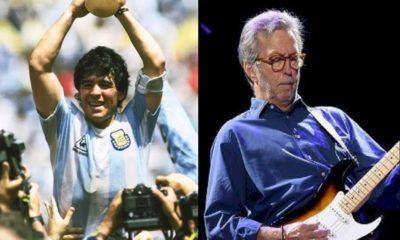 Eric Clapton tentou livrar Maradona das drogas