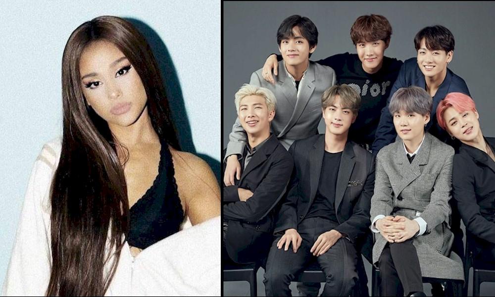 Ariana Grande pode gravar uma colaboração com o BTS, segundo site