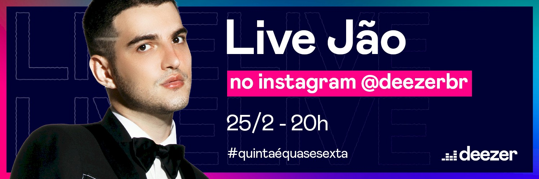 """Jão apresenta live """"Quinta é Quase Sexta"""" na Deezer"""