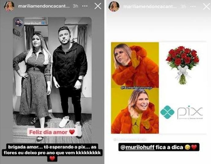 """Namorado de Marília Mendonça homenageia cantora e ela pede """"Pix"""""""