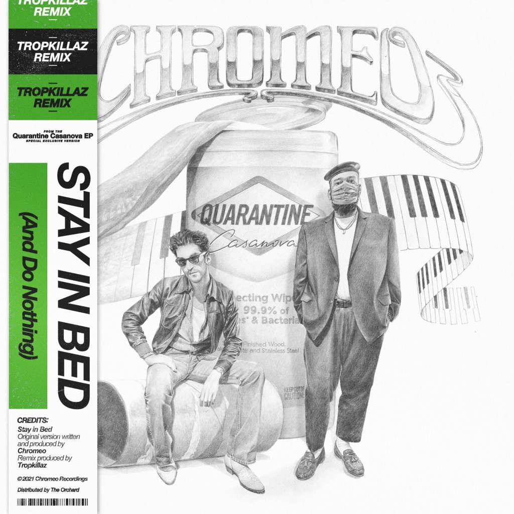 "Chromeo se une ao duo brasileiro Tropkillaz no remix de ""Stay In Bed"""