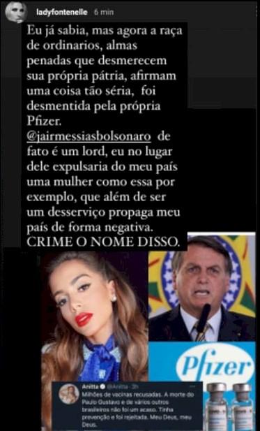 Apresentadora de TV sugere a expulsão de Anitta do Brasil