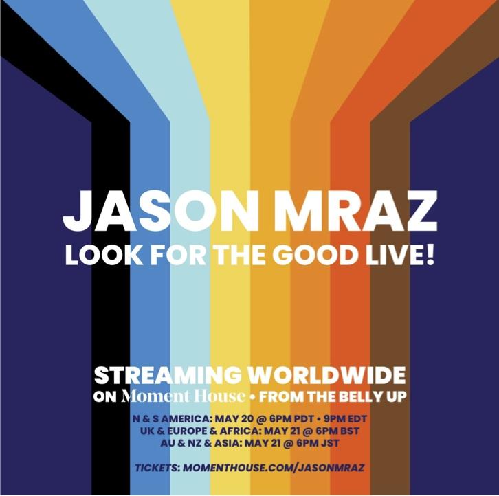 Jason Mraz anuncia show virtual para maio