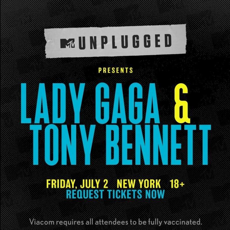 """""""Acústico MTV"""" com Lady Gaga e Tony Bennett acontecerá em julho"""
