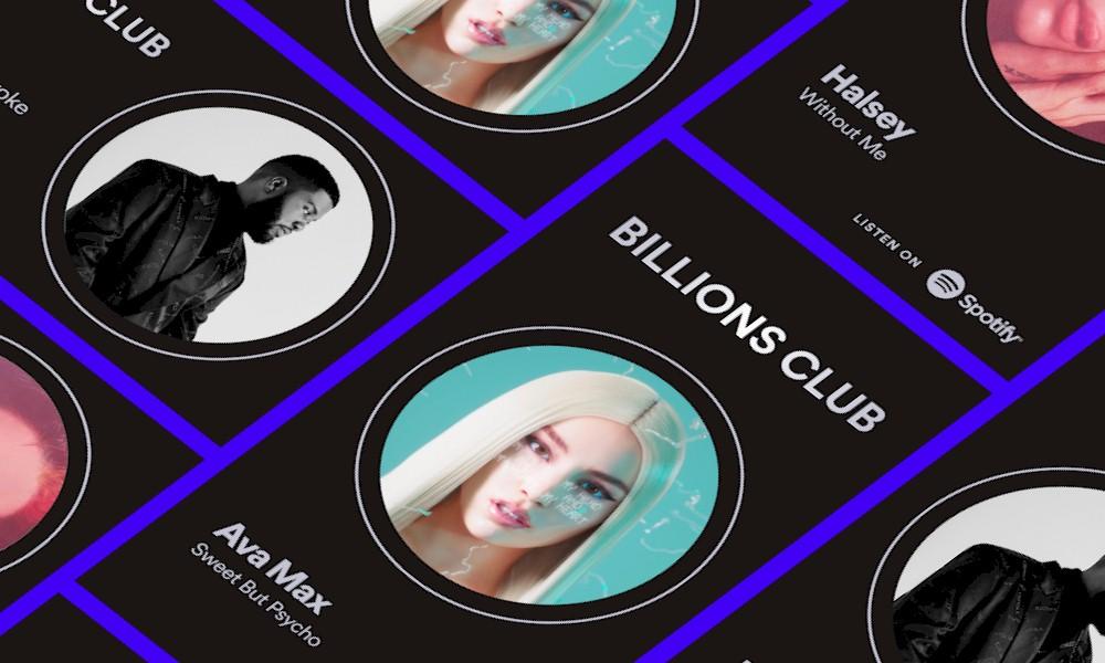 """Spotify celebra os maiores hits da plataforma com a playlist """"Billions Club"""""""