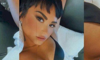 Demi Lovato grava cena de sexo e posa de lingerie no Instagram