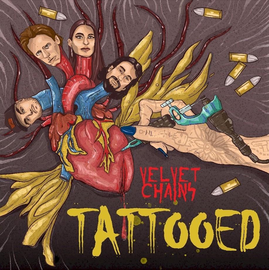 """Velvet Chains lidera a expansão do novo rock americano com """"Tattooed"""""""