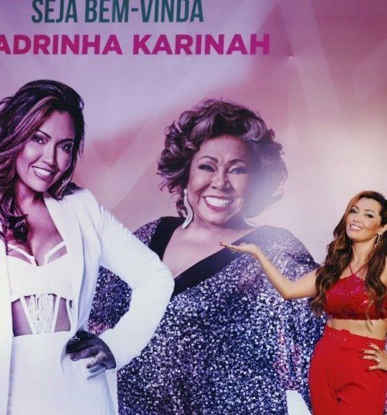 Alcione consagra Karinah como madrinha de programa social da Mangueira