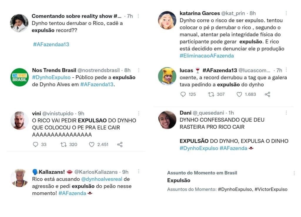 A Fazenda: Dynho Alves, marido de MC Mirella pode ser expulso da competição