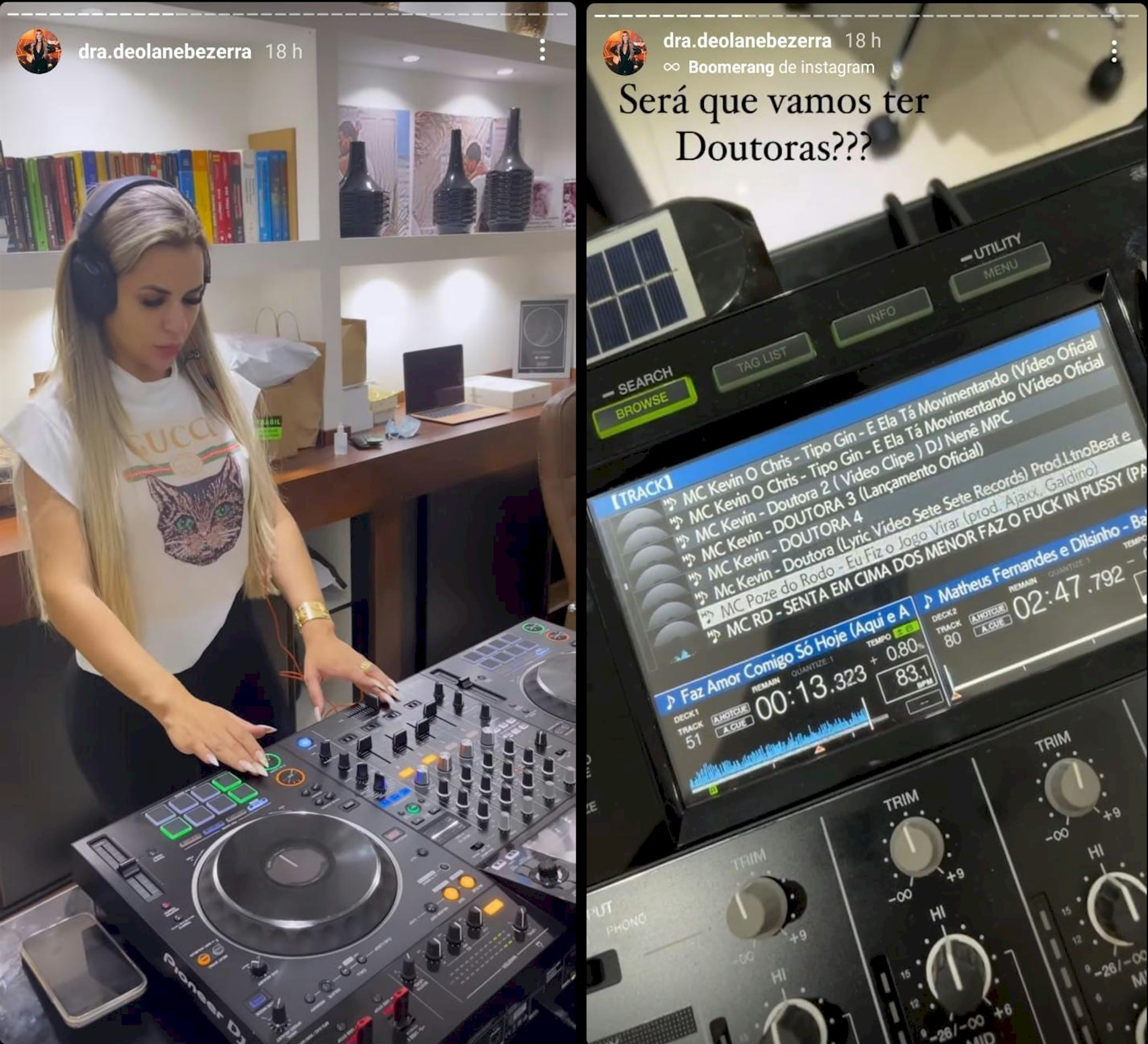 Viúva de MC Kevin deixa escapar set de estreia como DJ