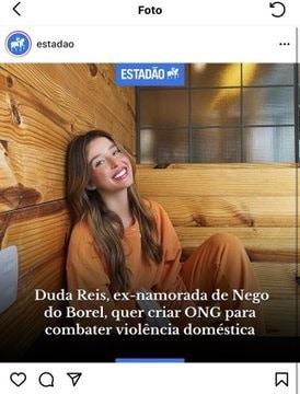 """Duda Reis detona publicação que a chamou de """"Ex-Nego do Borel"""""""