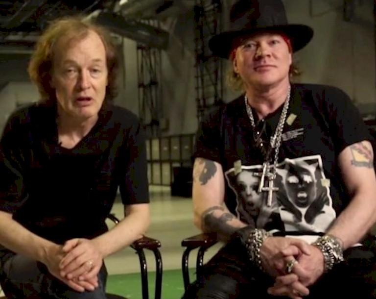 AC/DC: novo álbum poderá contar com Axl Rose